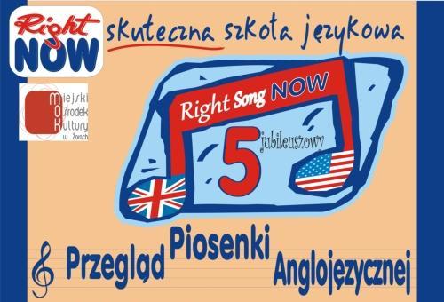 Ogłaszamy zapisy na 5 Przegląd Piosenki Anglojęzycznej 'Right Song Now'